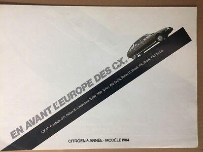 Car Brochure - 1984 Citroen CX - France