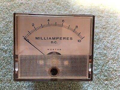 Weston Panel Meter Dc Milliamperes 0-10 Me 197