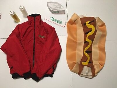 Funny Couples Costume Vintage Nathan's Famous Hot Dogs Jacket & Hot Dog - Famous Funny Couples