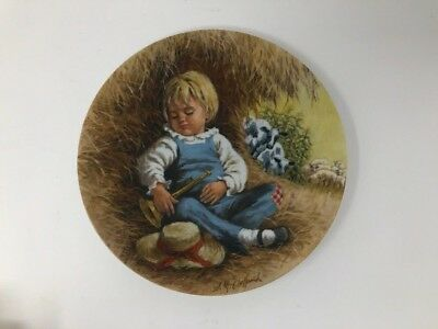 RECO Little Boy Blue Collectible Plate 1980 Mother Goose Series John McClelland