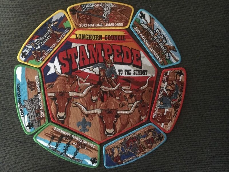 Mint 2013 National Jamboree 8 Piece JSP Set Longhorn Council Stampede