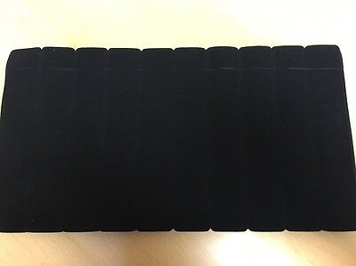 "Lot Of 100 Black Velvet Pen Sleeves Fits Most Pens Size Approx 1"" x 6"""