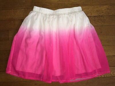 ! the Childrens Place pink white dip dye skirt size medium 7 - 8 girls