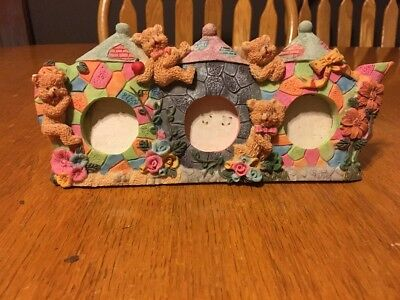 Triple Mini Picture Frame With Bears And Castles