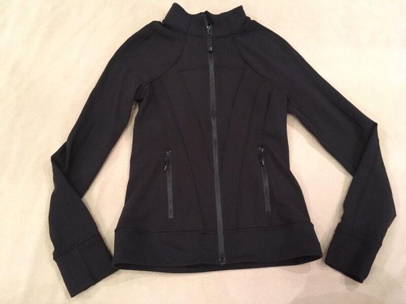 Ivivva 12 Jacket Black Solid By Lululemon Bling Letters On Back Gymnastics Dance