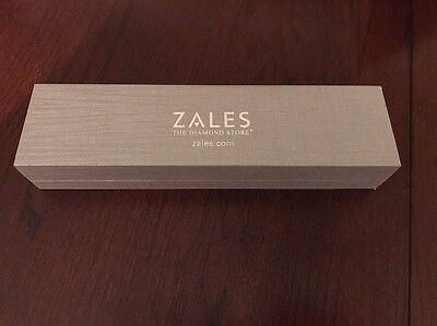 Zales the Diamond Store Silver Bracelet/necklace Jewelry Box NEW!