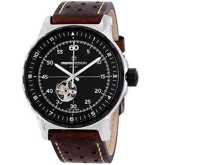 Momo Design Pilot Heritage Automatic Men's Analog Watch, 46mm, MD3064SB-12 (Design Pilot)