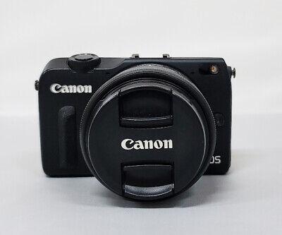 Canon EOS M2 18.0MP Digital Camera(Black) Canon with 15-45mm lens (Black)