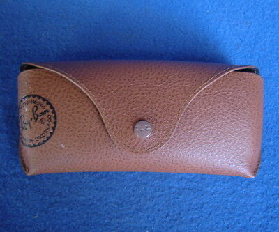 ~RAY BAN~ SEMI-HARD BROWN LEATHER AVIATOR TYPE SUNGLASSES CASE ~ GLASSES  POUCH