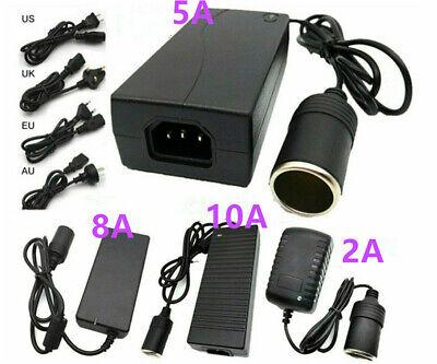 AC 110V To DC 12V Car Power Supply Adapter Converter Cigarette Lighter Socket  12v Ac Power Socket