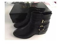 BNIB Ralph Lauren Margo black calfskin boots size 3.5