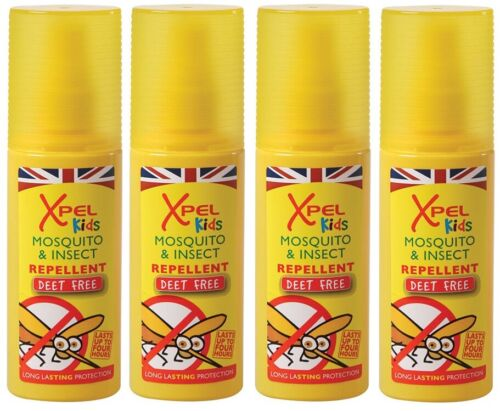 4+x+120ml+Xpel+Kids+Tropical+Formula+Mosquito+%26+Insect+Repellent+Spray+DEET+FREE