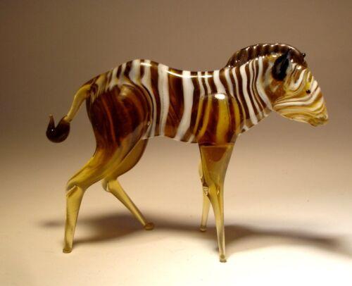 Blown Glass Handmade Figurine Art Animal ZEBRA