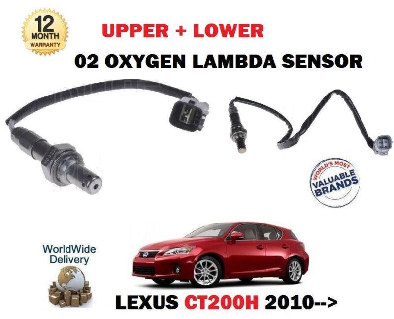 FOR LEXUS CT200H 1.8 HYBRID 2010--> UPPER + LOWER 02 OXYGEN 2X LAMBDA SENSOR SET