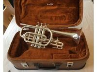 Besson 2-20 Long Cornet- Immaculate Silver Plate
