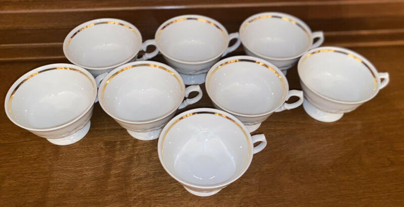 ROYAL KENT- Poland- 8 sets-cups and saucers-16 total pieces-purple violet design