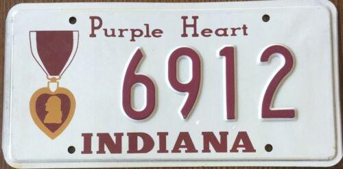 Indiana Purple Heart License Plate - 6912