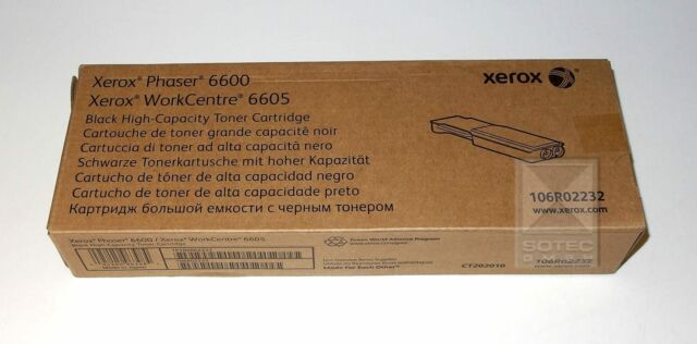 Xerox Toner Phaser 6600, WC 6605, 106R02232 Black high-capacity