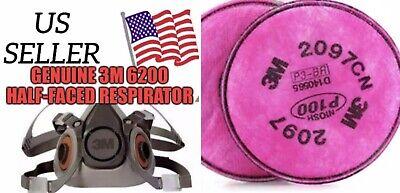 3M 6200 Half Facepiece Reusable Respirator Medium With Set of 3M 2097 Filters
