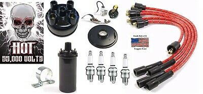 Farmall H Super M Tractor Ignition Tune Up Kit 12 Volt Hot Coil