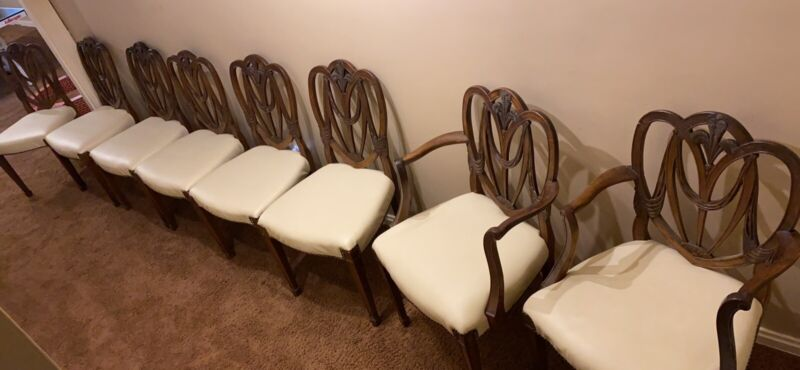 Federal Period Shield Back Chairs, 1789-1823, 8 chairs, antique