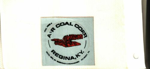 NICE  SOUTHEASTERN KENTUCKY A & R COAL CO. COAL MINING STICKERS # 642