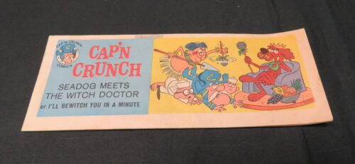 1965 VTG QuakerOatsCo Cereal Promo Comic Book SeaDog Meets The Witch Doctor