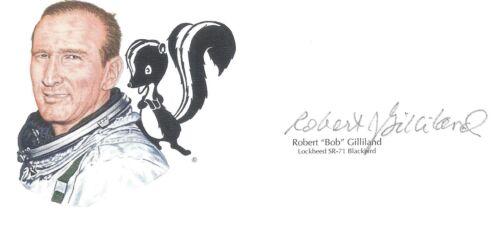 Robert Gilliland Signed Cut Signature GOE Lithograph SR-71 Pilot