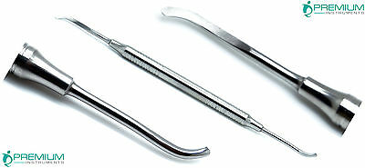 New Periosteal Freer Dental Elevator Double Ended Hollow Handle Pro Instruments