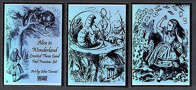 ALICE IN WONDERLAND FOIL PREVIEW CARD SET CULT-STUFF