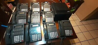 Nec Dsx-80 Key Telephone Sys All Cables Wires W 10 Bds 22btn Phone Stations