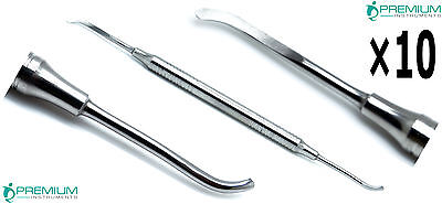 10 Dental Freer Periosteal Elevator Oral Implant Surgical Pro Steel Instruments