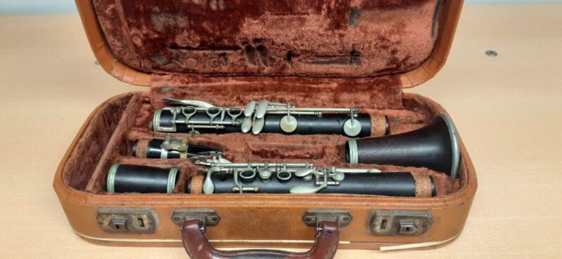 Vintage Wooden Rampone Milano 4 Piece Clarinet B Used