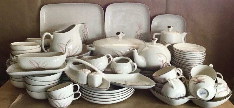 100 Pc WINFIELD DRAGON FLOWER China 12 Pl Settings & Serving Pcs Plates Bowls +