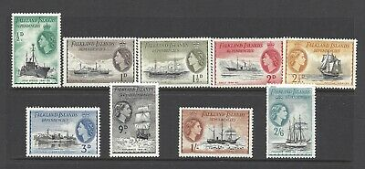 FIDS 1954 SHIPS DEFINITIVES SMALL RANGE TO 2/6d (SOME FAULTS) MM