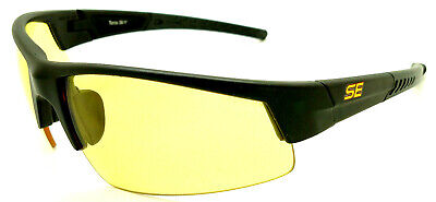 Shooters Edge Z87.1 Safety Shooting Glasses Contrast Yellow Lens Black Frm