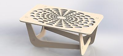 Center Table Project Dxf File To Cut On Cnc Router Or Laser Aspire Artcam 064