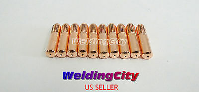 10-pk Mig Welding Gun Contact Tip 087-299 .023 For Miller Millermatic Hobart H