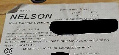 Nelson Lt5jt Self-regulating Pipe Heating Cable 5 Wattsft 120v 10ft
