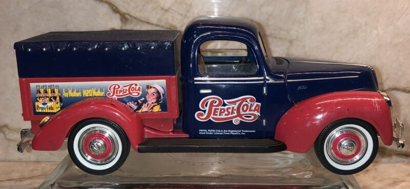 Golden Wheels--1940 FORD DIE CAST REPLICA PEPSI DELIVERY TRUCK--COLLECTIBLE BANK