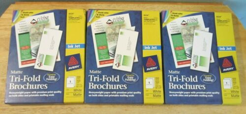 "Avery 8324 Ink Jet White Matte Tri-Fold Brochures 300 Sheets 8 1/2"" x 11"" Sealed"