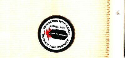 NICE OLDER LATE 70'S PEABODY  COAL CO COAL MINING STICKER # 787