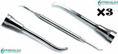 3 Dental Freer Periosteal Elevator Oral Implant Surgical Premium Instruments