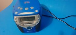 Philips CD Player AM FM Radio Alarm Clock  Tested and Works