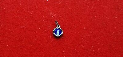 Pendant Religious Sterling Silver Antique Enamelled Blue REF55989