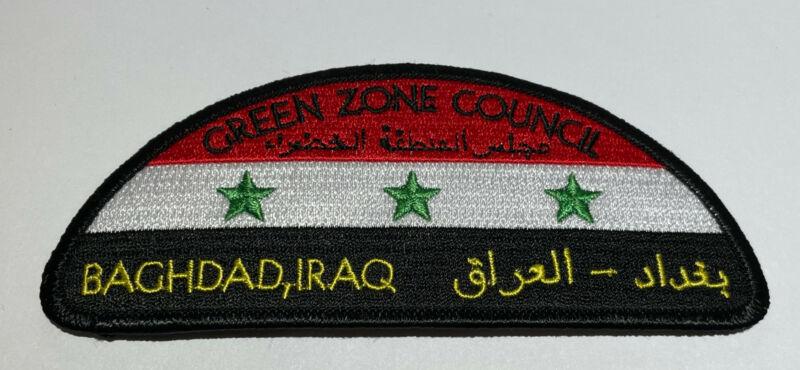 Green Zone Council Iraq Patch Black CSP Boy Scout