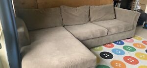 3 seat Couch with Chaise & fold out bed