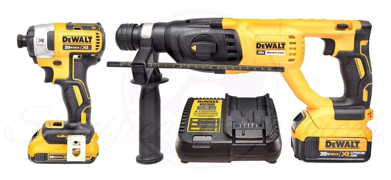 Details about NEW DeWALT 20V MAX XR Li-Ion Brushless Impact Driver SDS  Hammerdrill Combo Kit
