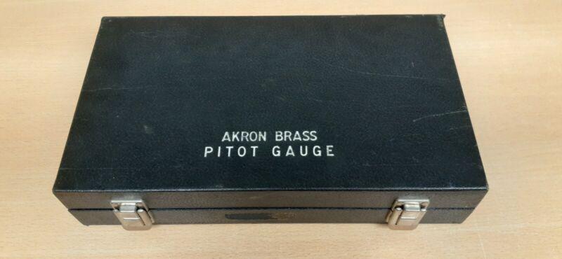 VINTAGE Akron Brass Pitot Gauge W/ carrying case