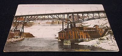 Postcard Vintage - Monroe St Bridge & Lower Falls Spokane Washington - Unposted
